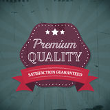 Premium quality retro vintage label with ribbon Royalty Free Stock Images