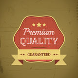 Premium quality retro vintage label with ribbon Royalty Free Stock Photography