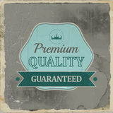 Premium quality retro vintage label with ribbon Stock Photography
