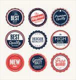 Premium, quality retro vintage labels collection Stock Photos