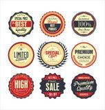 Premium, quality retro vintage labels collection Stock Photography