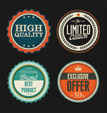 Premium, quality retro vintage labels collection Stock Images