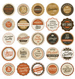 Premium, quality retro vintage labels collection Stock Photo