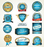 Premium, quality retro vintage labels collection Royalty Free Stock Photos