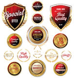 Premium, quality retro vintage labels collection Royalty Free Stock Images