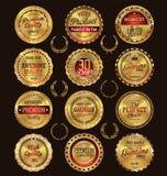 Premium, quality retro vintage labels collection royalty free illustration