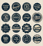 Premium, quality retro vintage labels collection Royalty Free Stock Photography