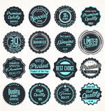 Premium, quality retro vintage labels collection stock illustration