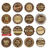 Premium, quality retro vintage labels collection Stock Photos