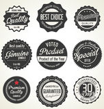 Premium, quality retro vintage labels collection Stock Images
