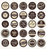 Premium, quality retro vintage red labels collection Stock Image