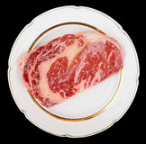 Premium quality ribeye steak Royalty Free Stock Images