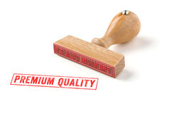 Premium Quality. A rubber stamp on a white background - Premium Quality Stock Images