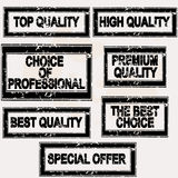Premium quality rubber stamps set Royalty Free Stock Photos
