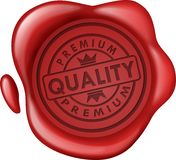 Premium quality sale wax seal. Vector Illustration Of Premium quality sale wax seal Royalty Free Stock Photography