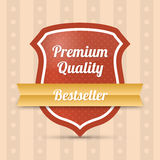 Premium quality shield - Bestseller Royalty Free Stock Photography