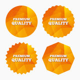 Premium quality sign icon. Special offer symbol. Triangular low poly buttons with flat icon. Vector Royalty Free Stock Photo