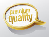 Premium quality speech bubble. Royalty Free Stock Photos