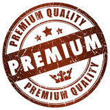Premium quality stamp. Isolaten on white Royalty Free Stock Image
