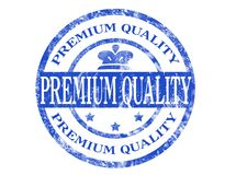 Premium quality stamp. Grunge rubber stamp with the text Premium quality written inside Stock Image