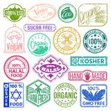 Premium quality stamp logo product mark retro grunge badges collection best label vintage tag vector illustration. Customer insignia grunge organic food letter stock illustration