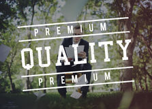 Premium Quality Standard Value Worth Graphic Concept. Premium Quality Standard Value Worth Graphic royalty free stock photos