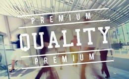 Premium Quality Standard Value Worth Graphic Concept. People Choose Premium Quality Standard Value Worth stock images
