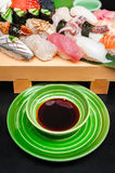 Premium quality sushi rolls served in Japanese restaurant Stock Images