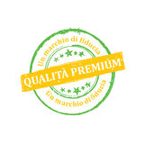 Premium Quality, Trusted brand Italian language Royalty Free Stock Images