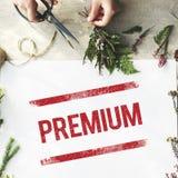 Premium Quality Value Guarantee Worth Standard Concept stock photography