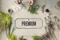 Premium Quality Value Guarantee Worth Standard Concept. Premium Quality Value Guarantee Concept stock image