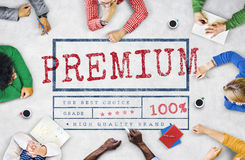 Premium Quality Value Worth Best Graphic Concept royalty free stock image