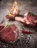 Premium Raw beef meat Royalty Free Stock Images