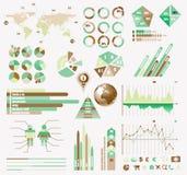 Premium Retro infographics eco  collection Stock Image
