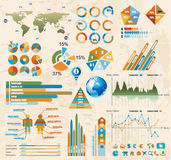 Premium Retro infographics master collection: Stock Images