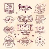Premium retro quality emblem Royalty Free Stock Photo