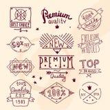 Premium retro quality emblem Royalty Free Stock Photo