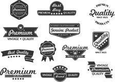 Premium retro stamps. Retro stamps in vintage style Stock Photo