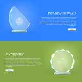 Premium Reward. My Trophy. Triumph Glass Award Stock Photo