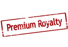 Premium royalty. Stamp with text premium royalty inside,  illustration Stock Photo