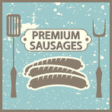 Premium sausages Royalty Free Stock Image