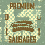 Premium sausages Stock Photography