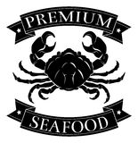 Premium sea food label Royalty Free Stock Photography