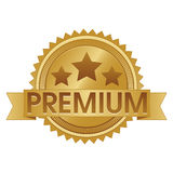 Premium Seal EPS. Illustration of a golden seal advertising a premium service Royalty Free Stock Images