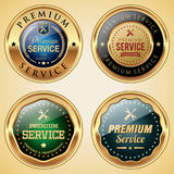 Premium Service badge collection. Set of Premium Service badges Royalty Free Stock Images