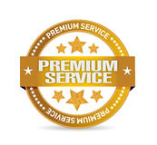 Premium service gold seal illustration design. Over a white background Royalty Free Stock Image