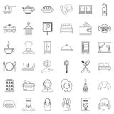 Premium service icons set, outline style. Premium service icons set. Outline style of 36 premium service vector icons for web isolated on white background Stock Photography