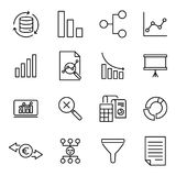 Premium set of analysis line icons. Simple pictograms pack. Stroke vector illustration on a white background. Modern outline style icons collection Stock Image