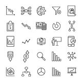 Premium set of analysis line icons. Simple pictograms pack. Stroke vector illustration on a white background. Modern outline style icons collection Royalty Free Stock Images