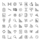Premium set of analysis line icons. Simple pictograms pack. Stroke vector illustration on a white background. Modern outline style icons collection Royalty Free Stock Image